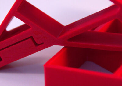 druk 3d - stojak na zasilacz na szyne DIN