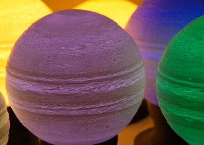 lampa nocna Jowisz - Jupiter - przykład zastosowania druku 3d