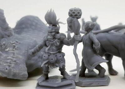 druk w technologii DLP – figurki RPG - przykład zastosowania